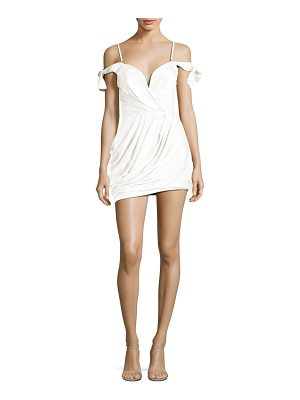 Zimmermann Winsome Silk Draped Cold-Shoulder Dress