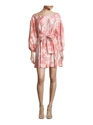 Zimmermann Winsome Tie-Dye Belted Dress