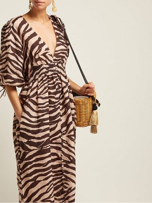 Zimmermann zebra print linen midi dress