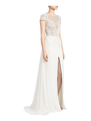 Zuhair Murad dragon lace long-slit a-line gown
