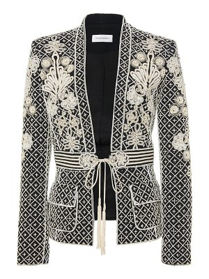 Zuhair Murad embroidered belted crepe jacket