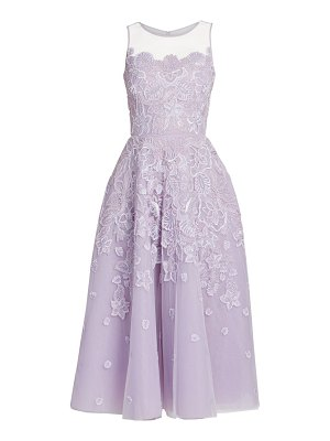 Zuhair Murad maui embroidered floral fit-& flare dress