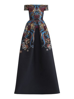 Zuhair Murad orizuro embroidered off-the-shoulder gown