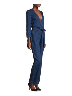 3x1 denim tie waist jumpsuit