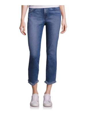 3x1 straight authentic crop raw-hem jeans