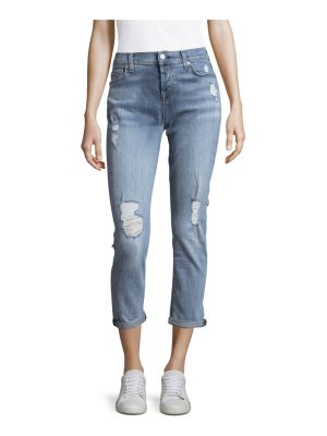 7 For All Mankind Josefina Distressed Ankle Jeans