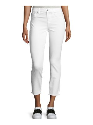 7 For All Mankind Roxanne Raw-Edge Ankle Skinny Jeans