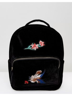 7X Velvet Backpack With Embroidery