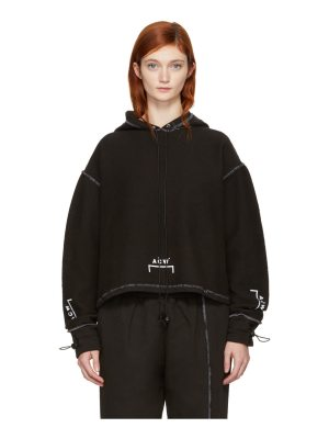 A-cold-wall* Exclusive Black Shrink Wrap Corded Logo Hoodie