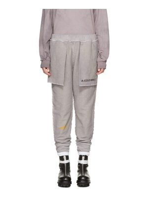 A-cold-wall* Grey the Meeting Of Textures Seamline Lounge Pants