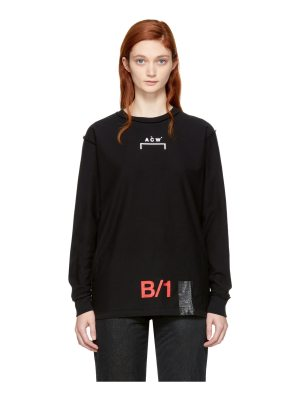 A-cold-wall* Long Sleeve b-1 Tape T-shirt