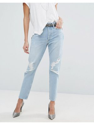 A-Gold-E AGOLDE Jamie Hi Rise Straight Jean with Rips