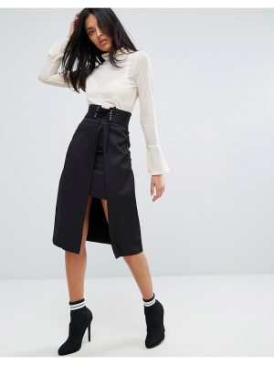 A State Of Being Madonna Knitted Slit Skirt