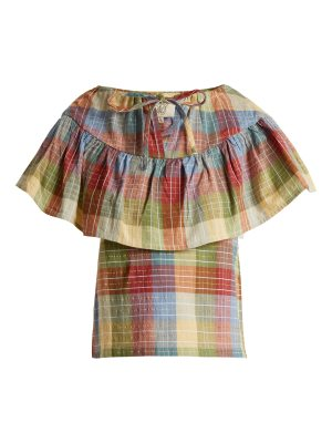 ace & jig clifton checked cotton blend top