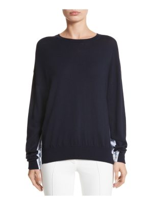 Adam Lippes cotton gusset merino wool sweater