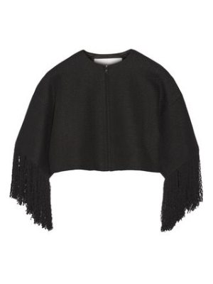 Adam Lippes cropped fringed linen and cotton