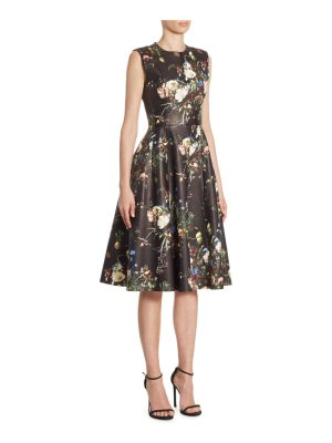 Adam Lippes floral leather dress