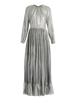 Adam Lippes Long-sleeved pleated maxi dress