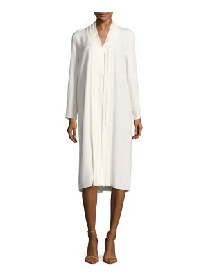 Adam Lippes Pleated V-Neck Dress