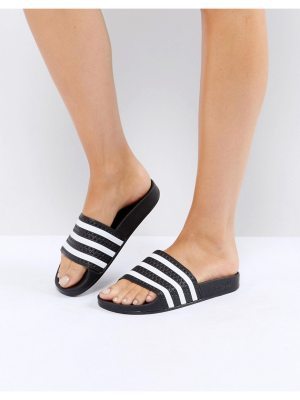 adidas Originals Adilette Slider Sandals In Black