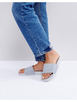 adidas Originals Adilette Slider Sandals In Gray