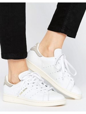 adidas Originals White And Gray Stan Smith Sneakers
