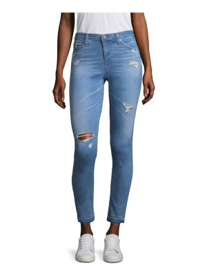 AG Adriano Goldschmied distressed ankle skinny jeans