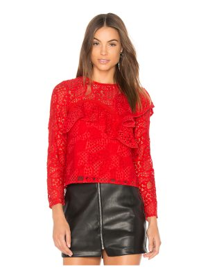 aijek Mae Ruffled Lace Blouse