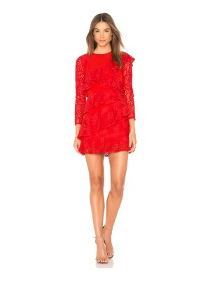 aijek Mae Ruffled Lace Dress