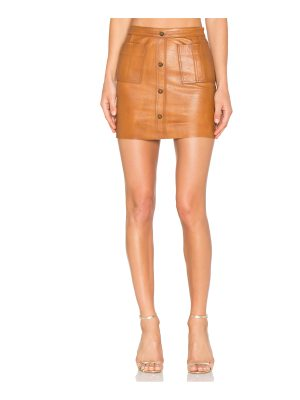 Aje Shrimpton Leather Mini Skirt