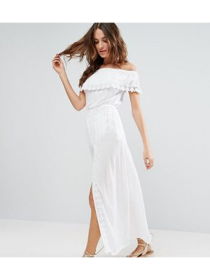 Akasa Off The Shoulder Ruffle Maxi Beach Dress