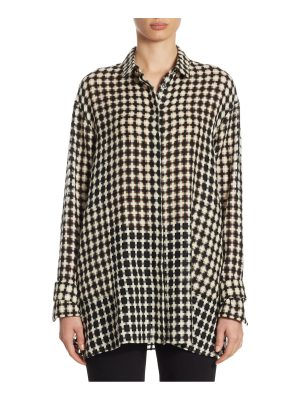 Akris wool button-front tunic
