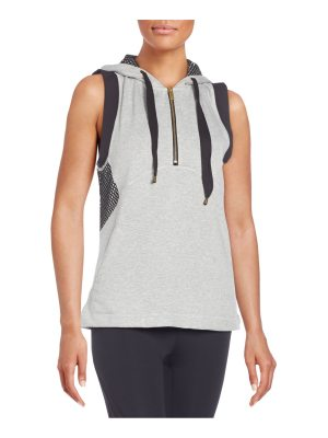 Azzedine Alaia Mesh-Trimmed Fleece Hooded Vest
