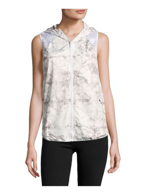Azzedine Alaia Printed Hooded Zipper Vest