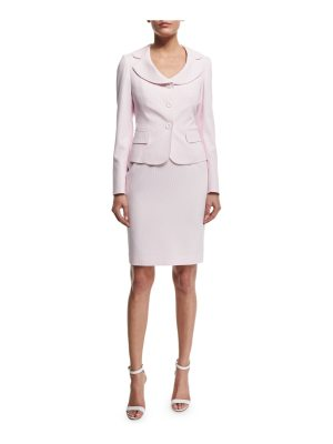 Albert Nipon Seersucker Jacket & Dress Set