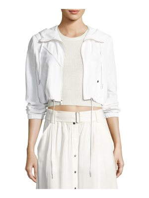 A.L.C. Broderick Cropped Hooded Jacket