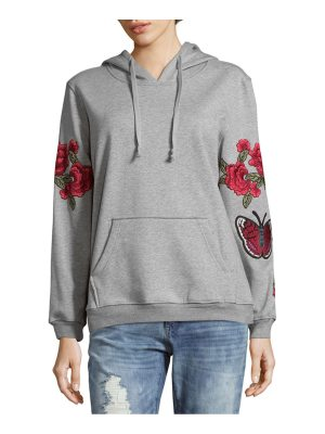 Alcee Kinney Rose Embroidered Hoodie