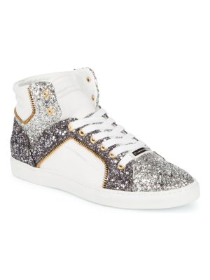 Alessandro Dell'Acqua Embellished High-Top Leather Sneakers
