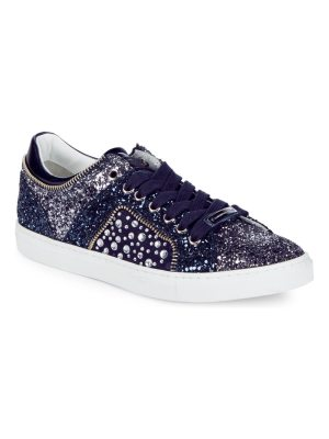 Alessandro Dell'Acqua Embellished Lace-Up Sneakers