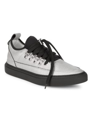 Alessandro Dell'Acqua Lace-Up Pointed Metallic Sneakers