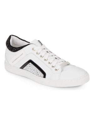 Alessandro Dell'Acqua Studded Leather Lace-Up Sneakers