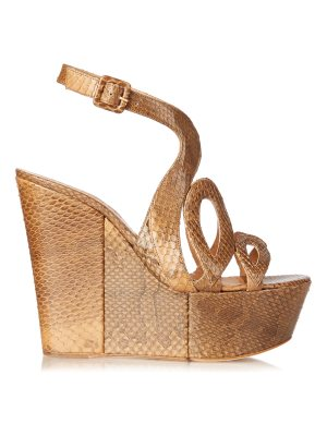 Alexa Wagner Ayers cut-out snakeskin wedges