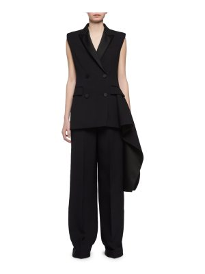 Alexander McQueen Tailored Tuxedo Vest with Tail