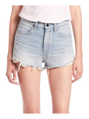Alexander Wang denim x  bite high-rise frayed shorts