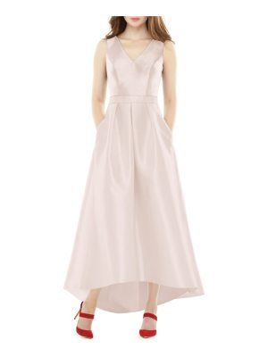 Alfred Sung high/low sateen twill gown