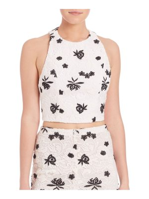 Alice + Olivia Lace Racerback Cropped Top