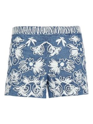 Alice + Olivia embroidered cotton shorts