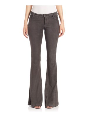 Alice + Olivia suede bell pants