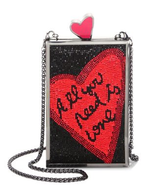 Alice + Olivia x beatles sophia all you need is love crystal clutch