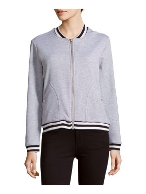 Alison Andrews Baseball-Collar Bomber Jacket